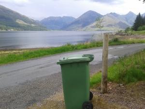 waiting for the bin men