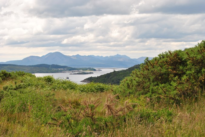 view from Balmacara Hill Skye Bridge
