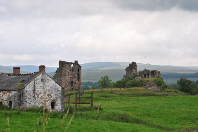 castle and farm building