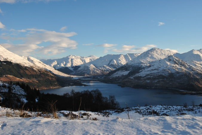 Scottish Highlands in winter