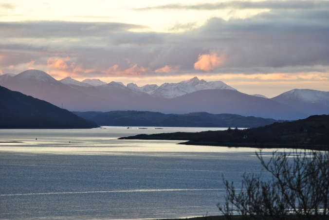 Isle of Skye view from Carr Brae one autumn evening