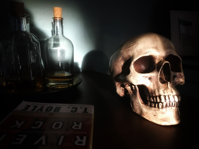 Skull and light