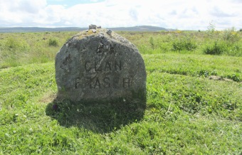 Clan Fraser Stein auf dem Culloden Battlefield