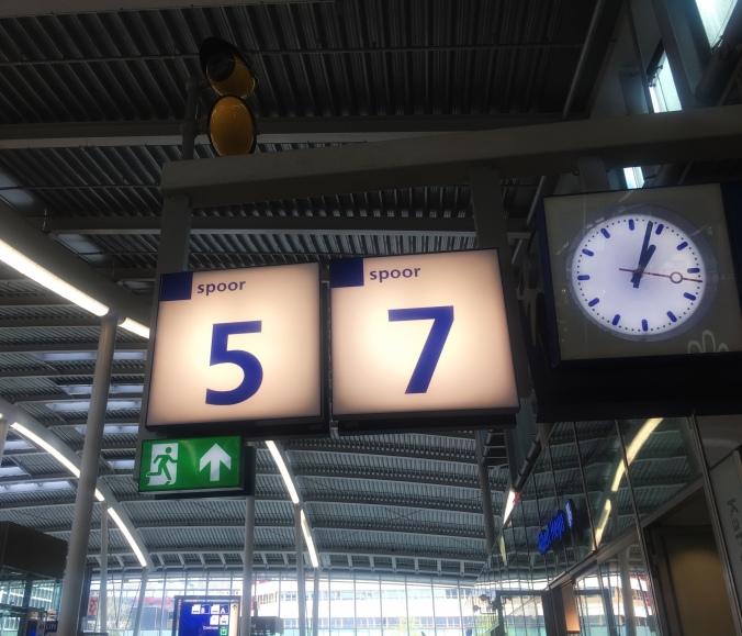 Gleisanzeige Bahnhof Utrecht Central